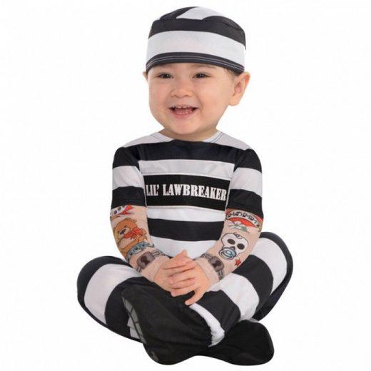 Rebellischer Verbrecher Babykostüm