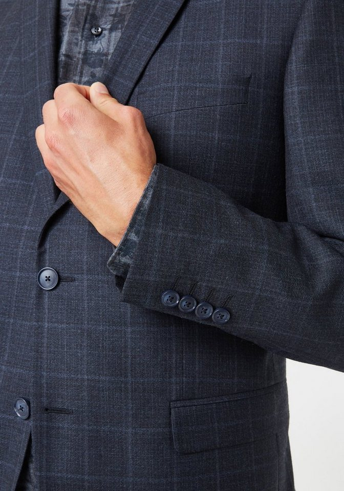 454638c2ecf8 Herren PIERRE CARDIN Anzug mit dezentem Schattenkaro – Regular Fit Andre  Dupont blau   04045291548769