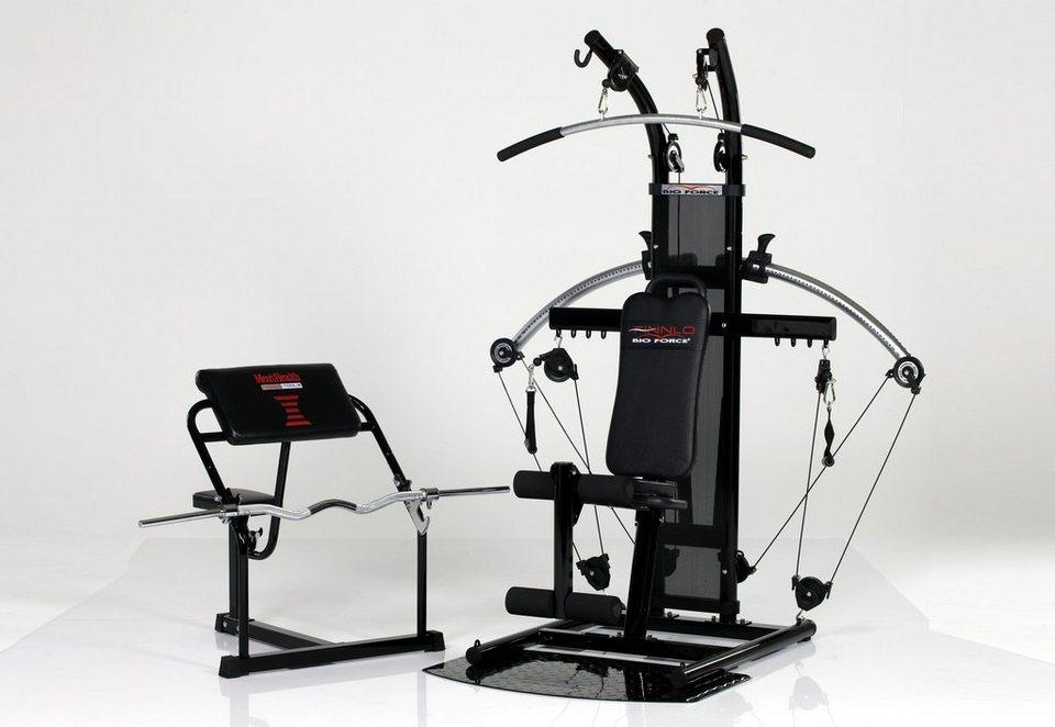 Kraftstation, Men's Health Powertools, »BioForce mit Curl-Bench«
