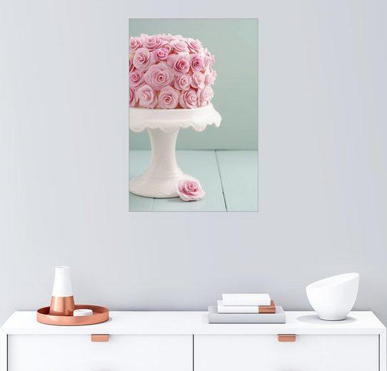Posterlounge Wandbild - Elisabeth Cölfen »Torte mit Rosen aus Zucker«