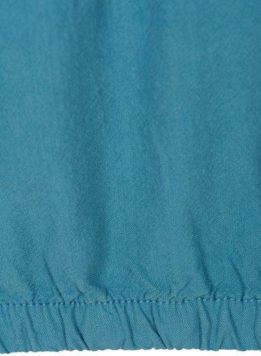 Zizzi Blusentop Damen Bluse Basic Kurzarm Rundhals Baumwolle T-Shirt Große Größen