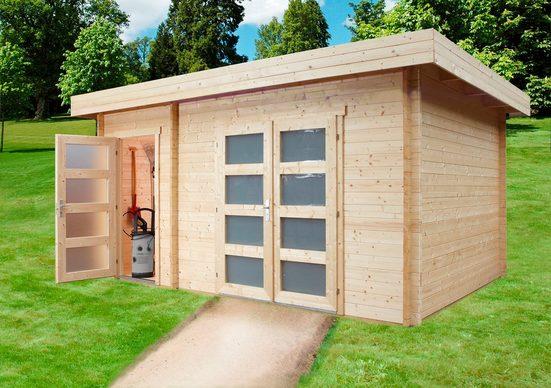 WOLFF FINNHAUS Gartenhaus »Nancy«, BxT: 504x347 cm, mit 2 Räumen
