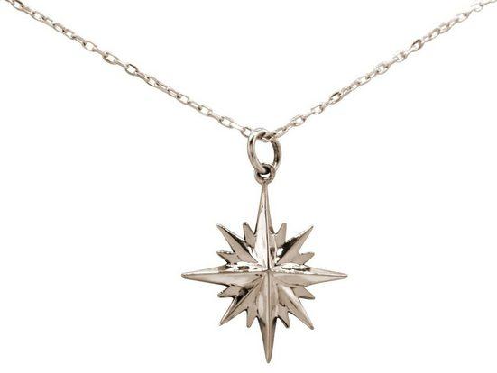 Gemshine Kette mit Anhänger »Konstellation Nordstern Polarstern«, 925 Silber