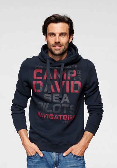 CAMP DAVID Kapuzensweatshirt mit Logoschriftzug