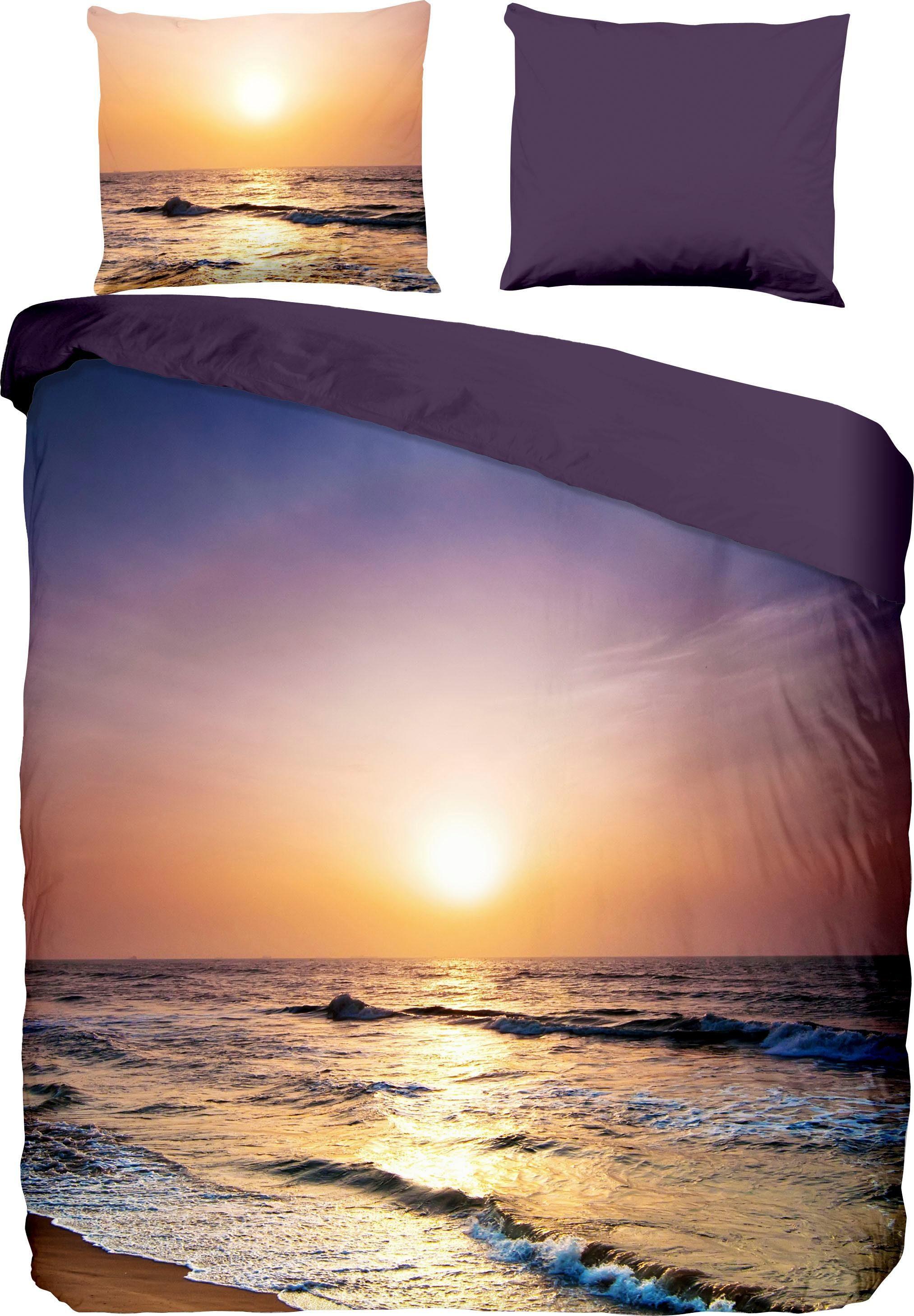 Wendebettwäsche »Sunset«, PURE luxury collection, mit Sonnenuntergang