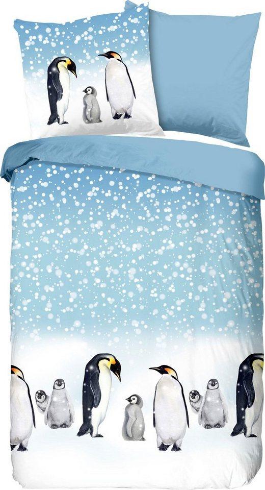 Wendebettwasche Penguins Good Morning Mit Pinguin Online Kaufen Otto