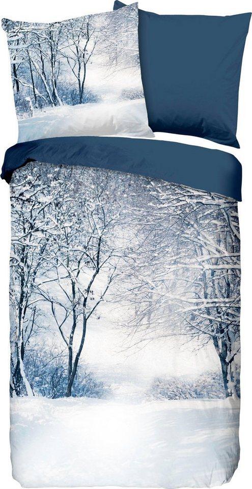 Wendebettwasche Winter Good Morning Mit Winterlichen Motiv Online Kaufen Otto