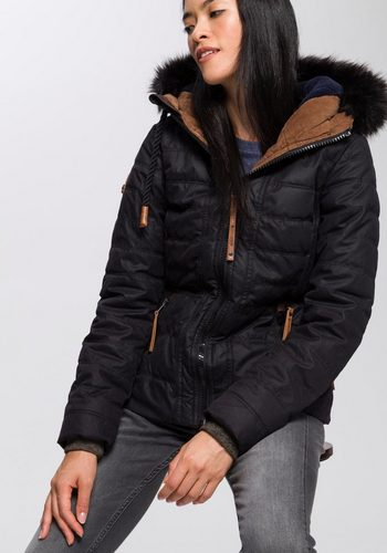 Damen,Kinder,Jungen naketano Winterjacke Bancock Ladyboy mit Kunstfell und Cord schwarz | 04060606141343