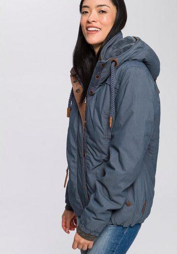 Damen,Mädchen,Kinder naketano Winterjacke Mädchen furzen Rosenduft Mit praktischen Details und großer Kapuze blau | 04060606138435