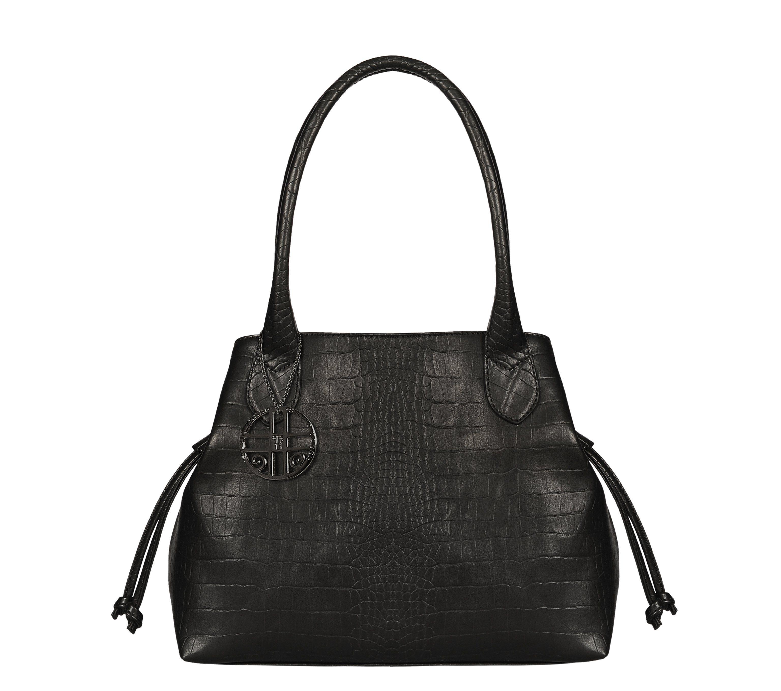 Silvio Tossi Handtasche im Krokodil-Design