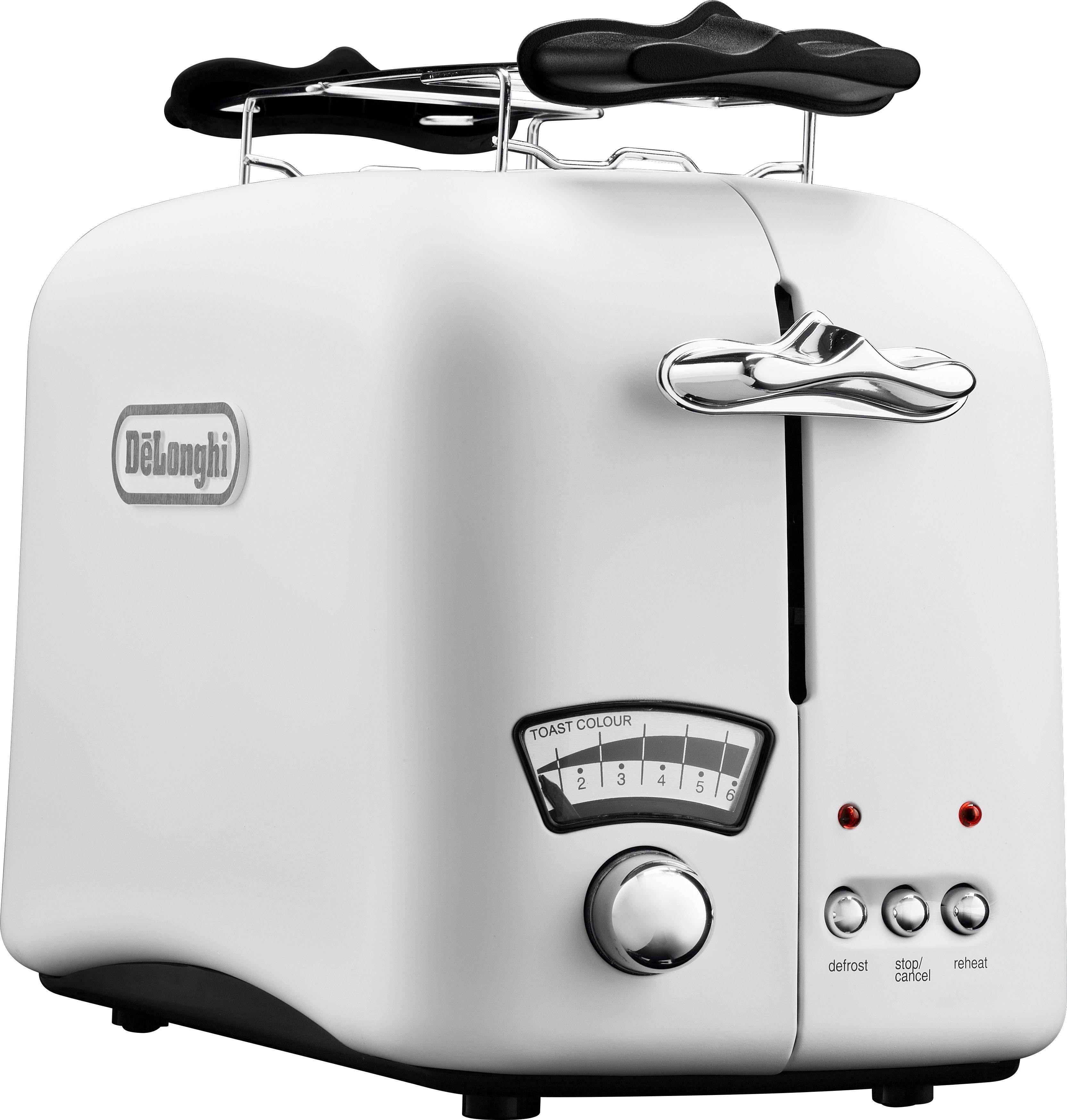 De'Longhi Toaster Argento CTO21.W, 2 lange Schlitze, 800 W
