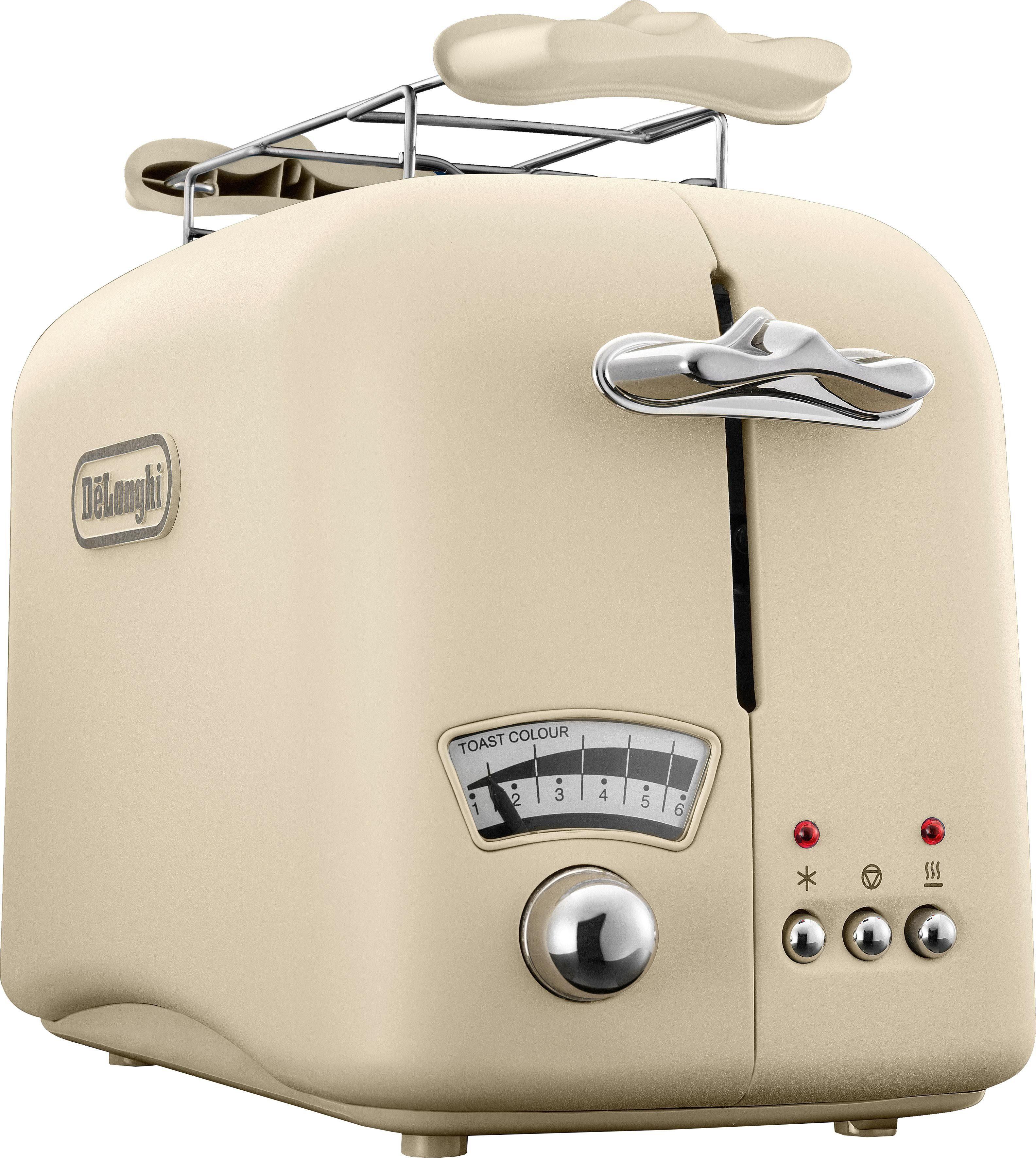 De'Longhi Toaster Argento Flora CTO21.BG, 2 lange Schlitze, 800 W