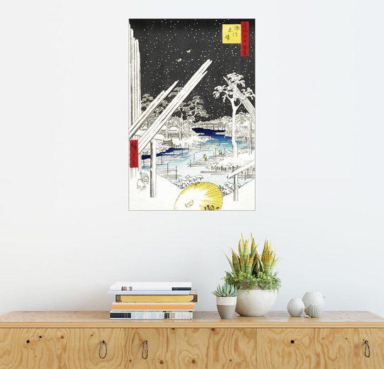 Posterlounge Wandbild - Utagawa Hiroshige »Das Viertel der Zimmermänner in Fukagawa«