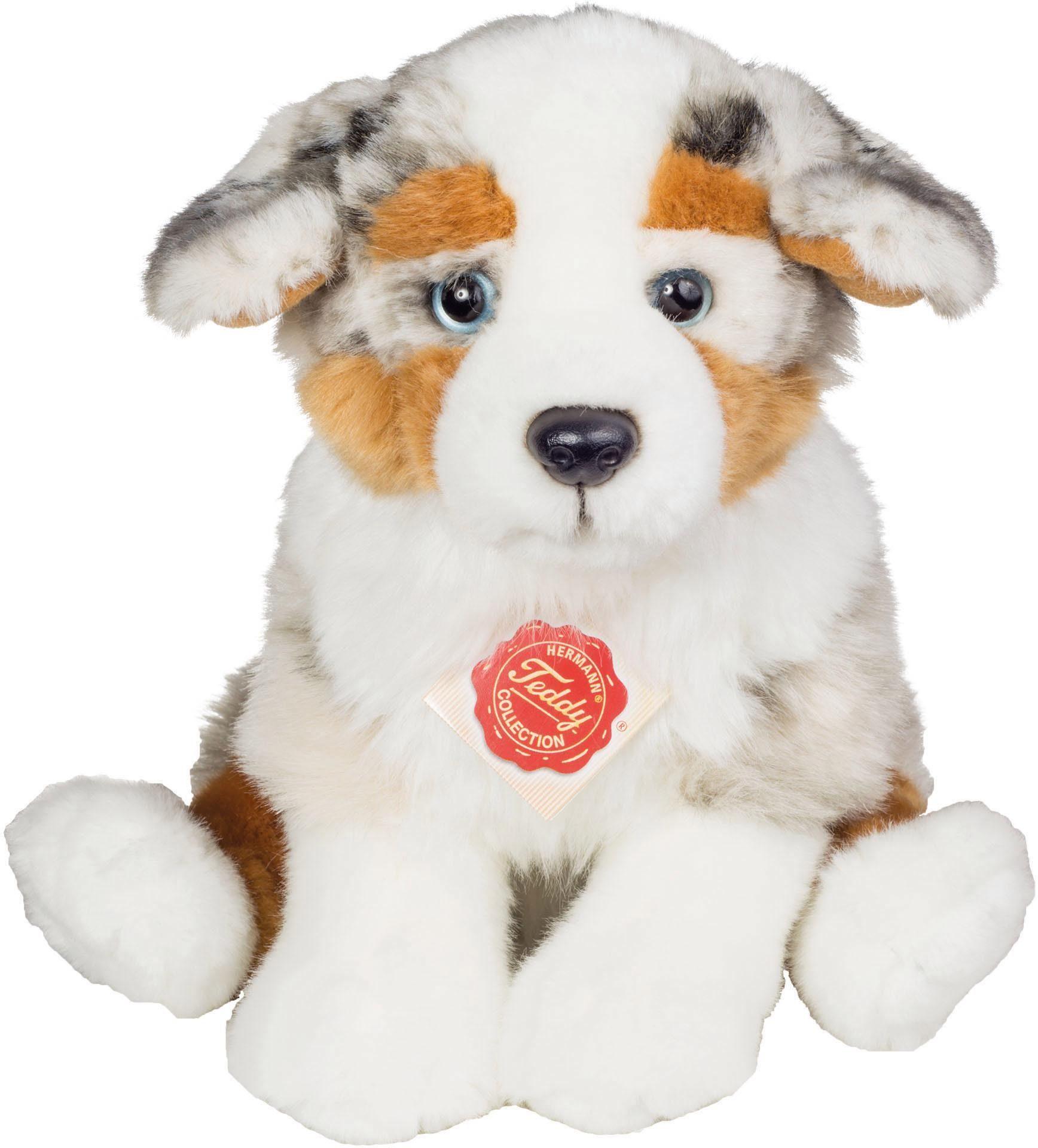Teddy Hermann® COLLECTION Plüschtier Hund, »Australian Sheperd Welpe sitzend, 22 cm«