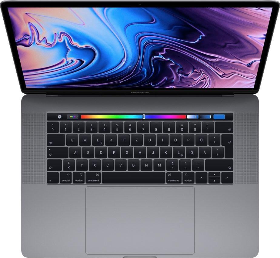 MacBook Pro (2018) Touch Bar Notebook (39,11 cm/15,4 Zoll, Intel Core i7, Radeon Pro, 512 GB SSD)
