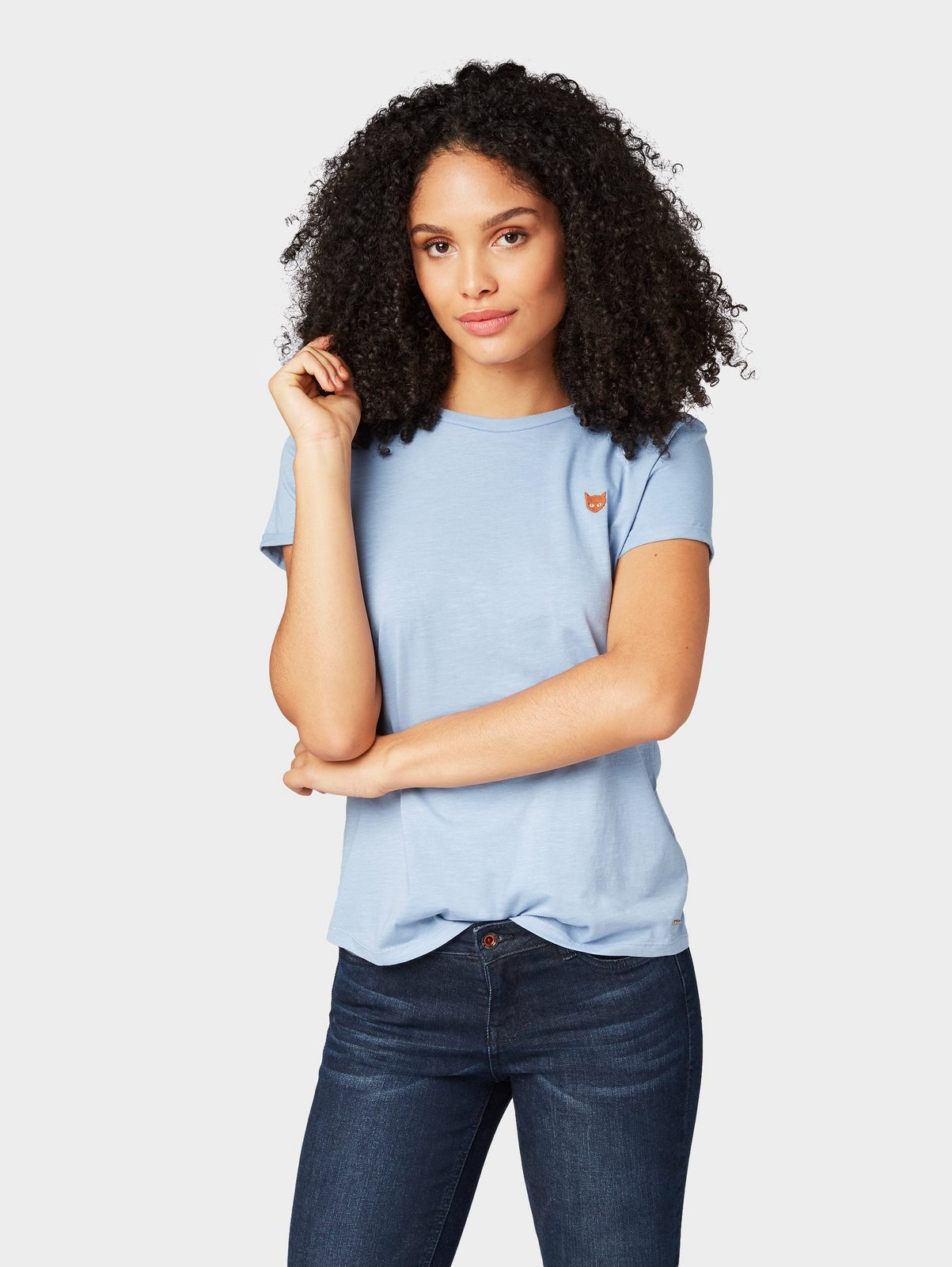 Tom Tailor Denim T-Shirt »T-Shirt mit kleiner Stickerei«