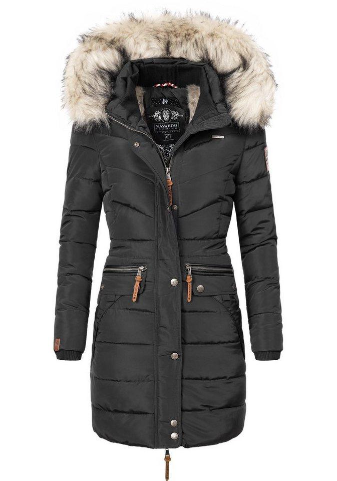 44fa89f9428697 Navahoo Steppmantel »Paula« stylischer Winter Parka m. edlem Fellimitat