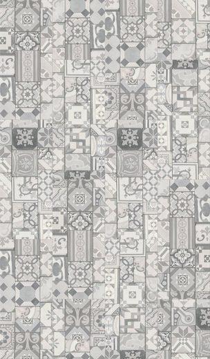 PARADOR Packung: Vinylboden »Trendtime 5.30 - Ornamentic Grey«, 907 x 395 mm, Stärke 8,6 mm, 1,8 m²