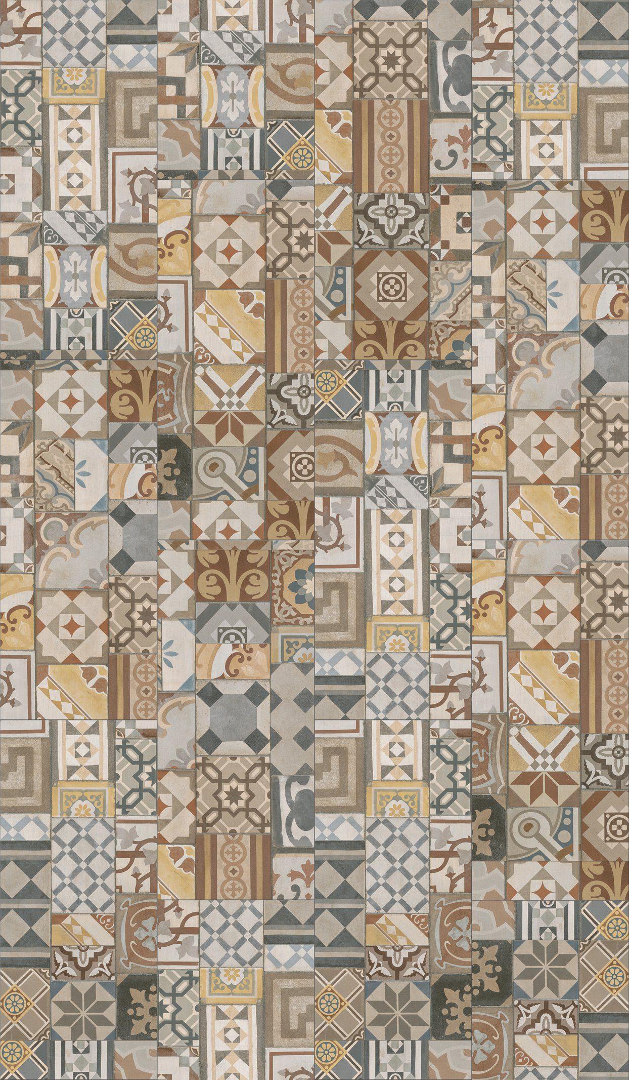 PARADOR Packung: Vinylboden »Trendtime 5.50 - Ornamentic Colour«, 907 x 396 mm, Stärke 5 mm, 2,1 m²
