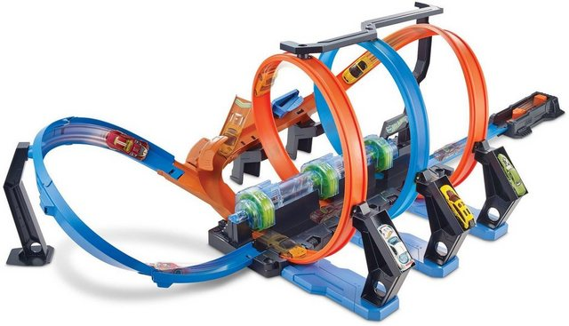 Image of Hot Wheels Autorennbahn »Korkenzieher-CrashTrackset«, inklusive 1 Spielzeugauto