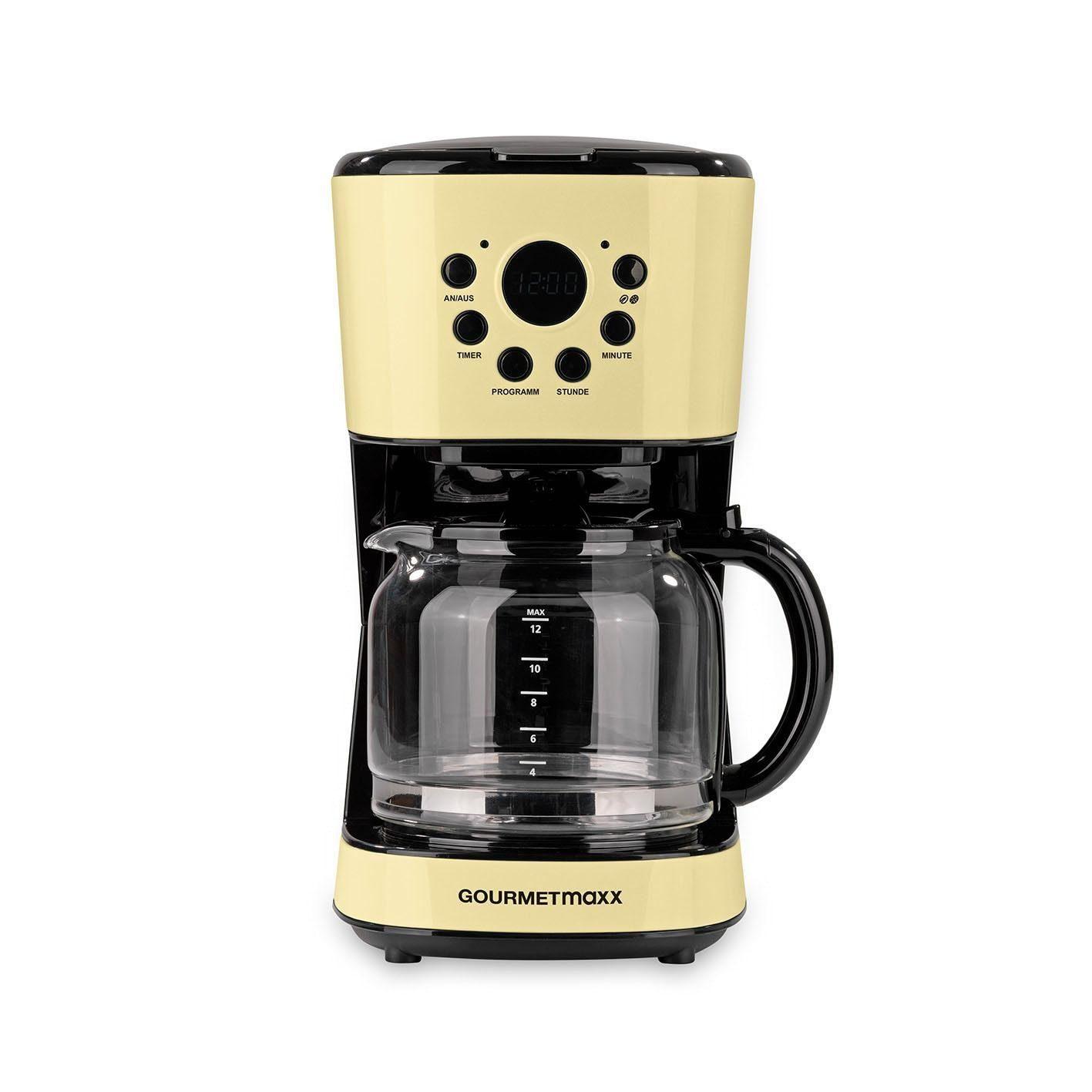 Retro Kühlschrank Vanille : Gourmetmaxx filterkaffeemaschine retro w vanille l
