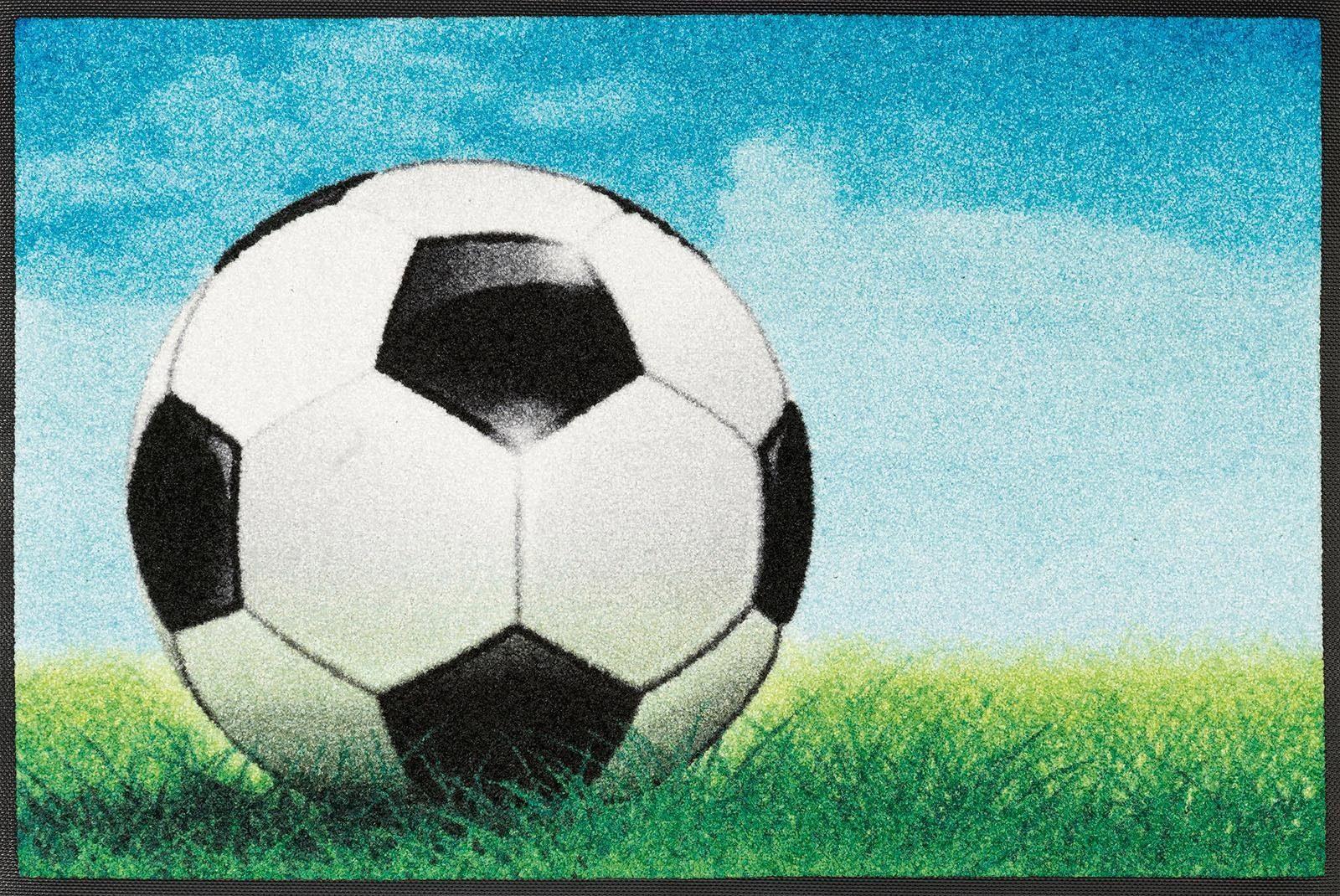 Fußmatte »Fußball«, wash+dry by Kleen-Tex, rechteckig, Höhe 7 mm