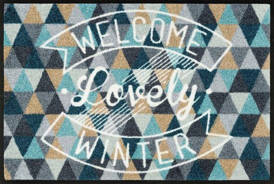 Fußmatte »Lovely winter«, wash+dry by Kleen-Tex, rechteckig, Höhe 7 mm