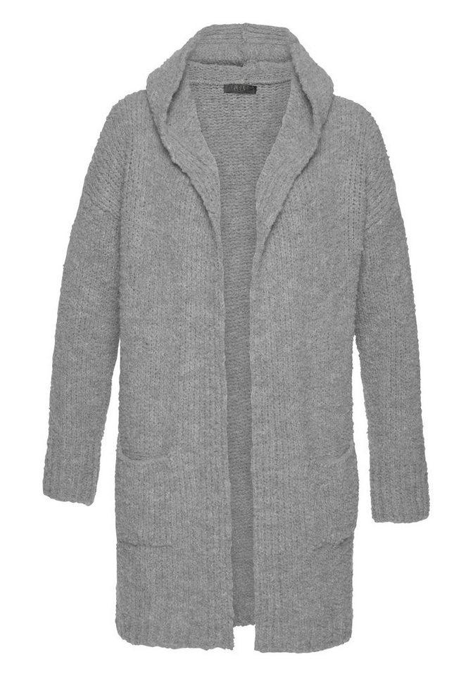 Please Jeans Strickjacke ohne Verschluss mit Kapuze online kaufen   OTTO 324636afa2