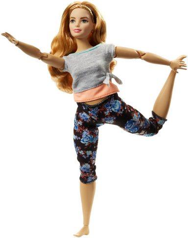 Mattel Puppe,  Barbie Made to Move mit Blümchen-Hose Blümchen-Hose Blümchen-Hose (blond strawberry)  online kaufen cac0c5