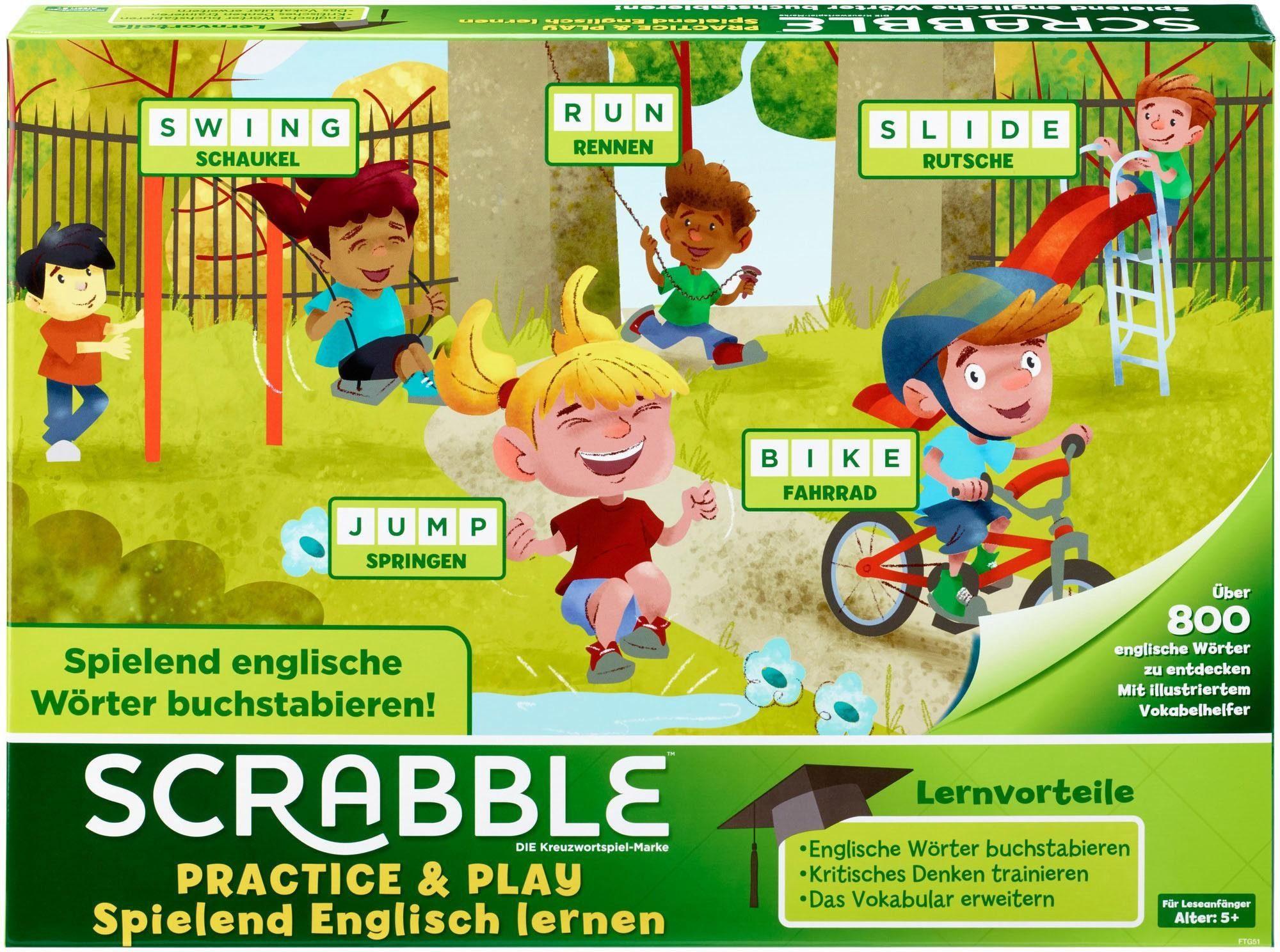 Mattel Denkspiel, »Mattel Games - Scrabble Practice & Play - Spielend Englisch lernen«