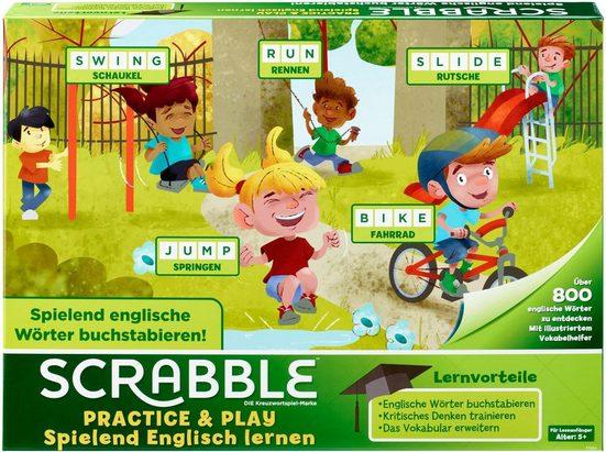 Mattel® Spiel, »Mattel Games - Scrabble Practice & Play - Spielend Englisch lernen«