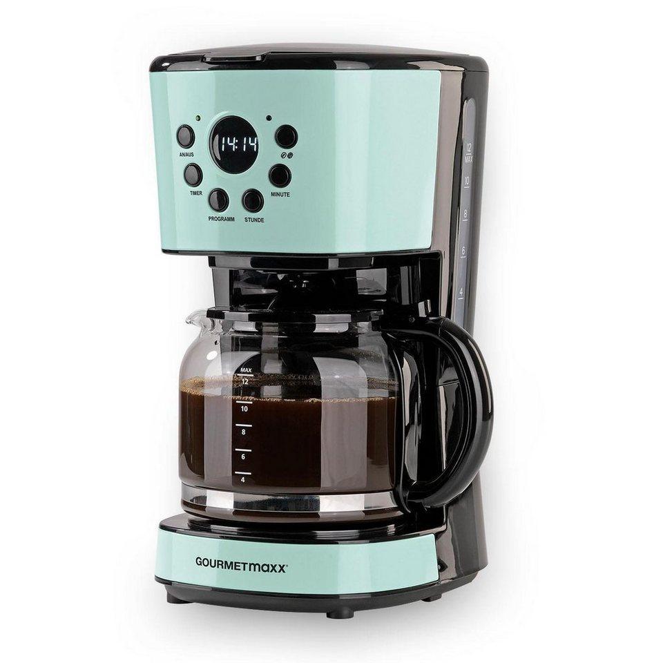 gourmetmaxx filterkaffeemaschine retro 900w mint 1 5l. Black Bedroom Furniture Sets. Home Design Ideas