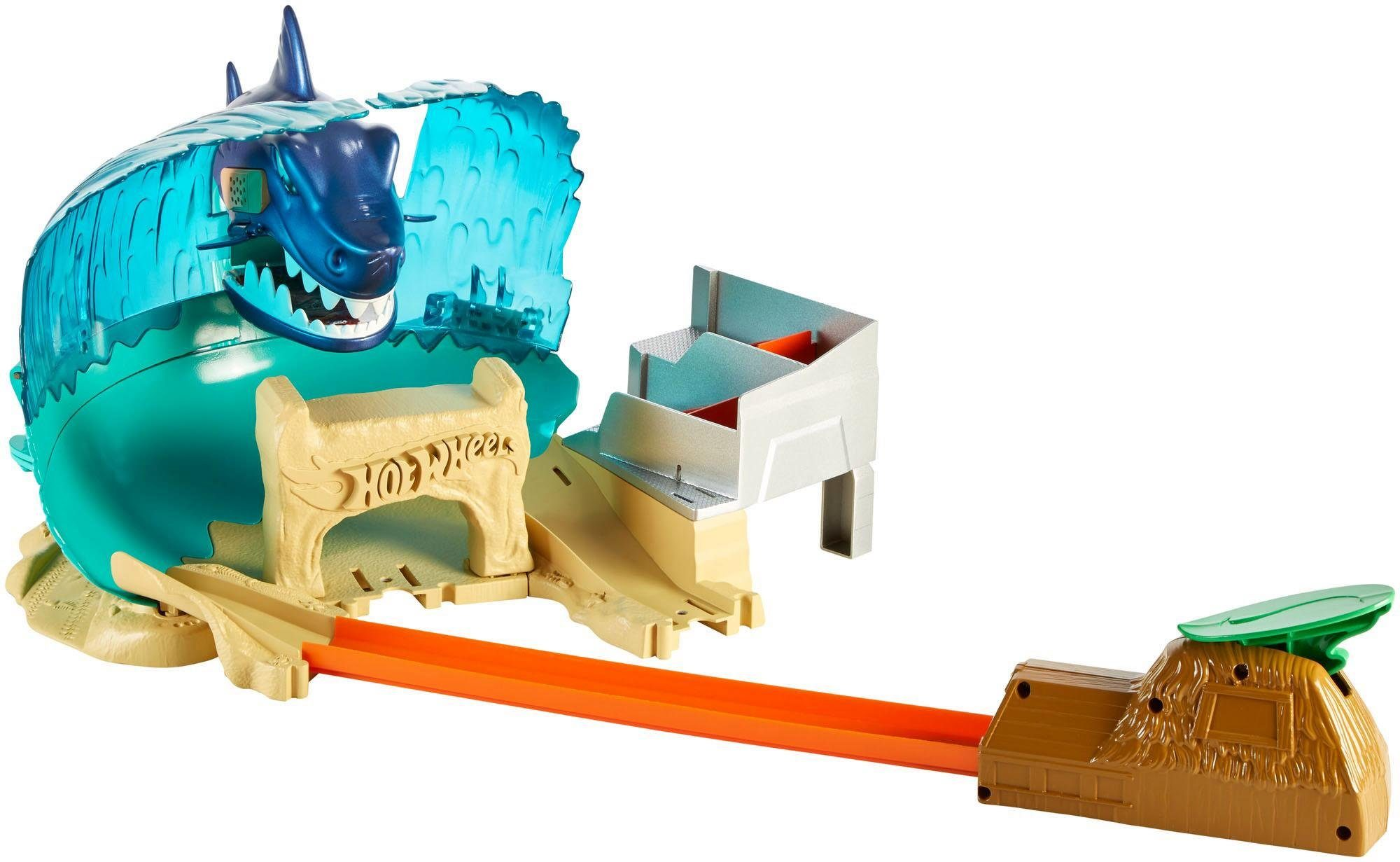 Mattel Rennbahn mit Fahrzeug, »Hot Wheels® City Hai-Strand-Attacke«