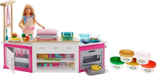 Mattel® Anziehpuppe »Barbie Cooking & Baking Deluxe Küche Spielset«, mit Puppe