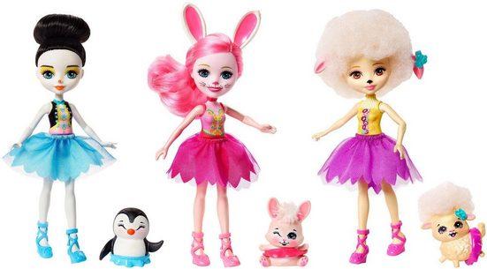 Mattel® Anziehpuppe »Enchantimals Multipack Ballett« (Set, 6-tlg., Enchantimals)