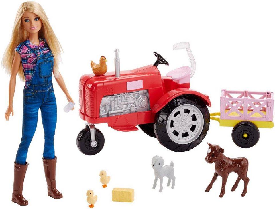 mattel anziehpuppe barbie b uerin und traktor set 2. Black Bedroom Furniture Sets. Home Design Ideas