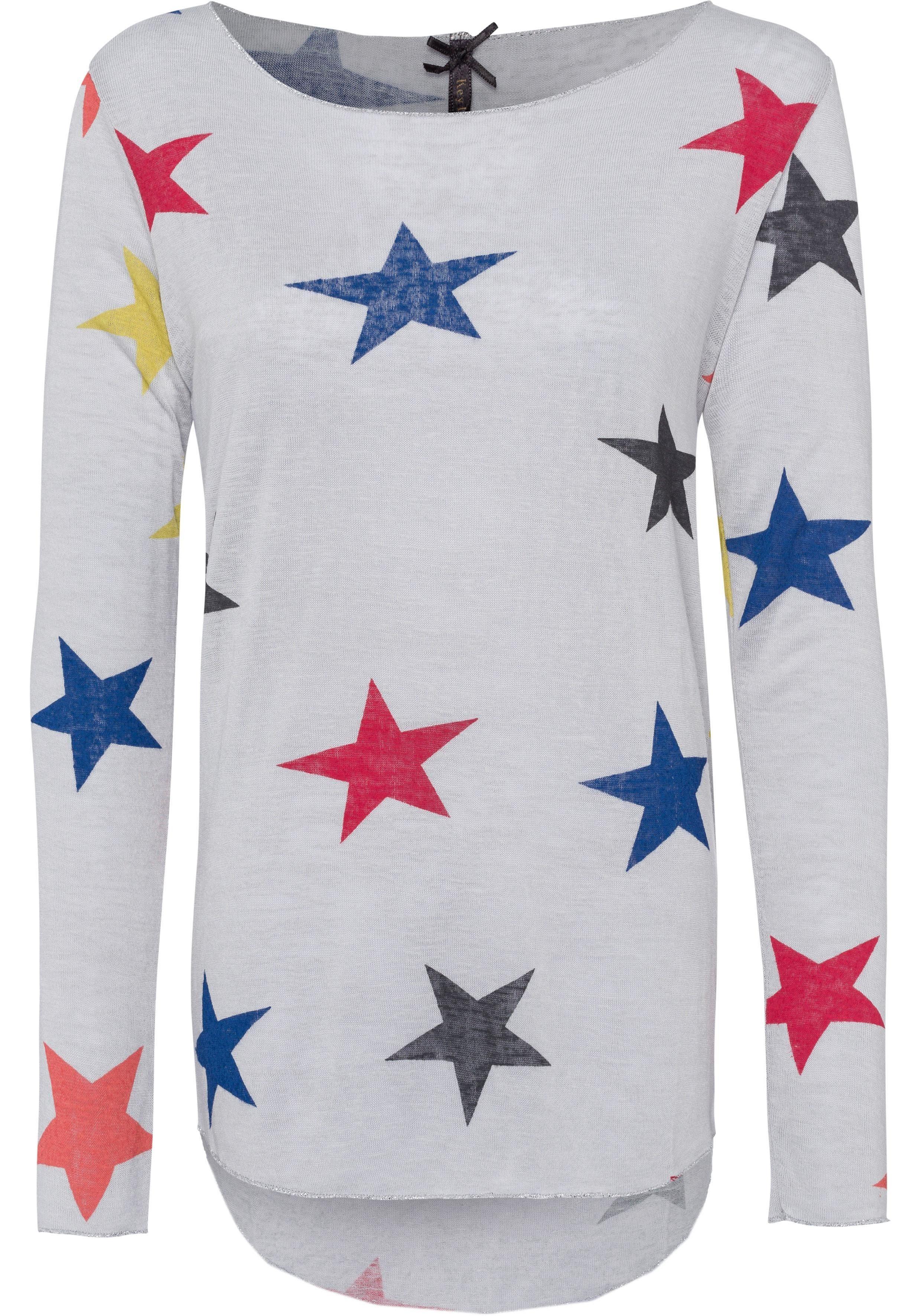 Key Largo Langarmshirt »Colour« mit bunten Sternen bedruckt