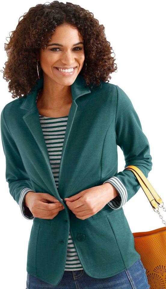 Damen Collection L. Jersey-Blazer mit Reverskragen grün | 08901145511791