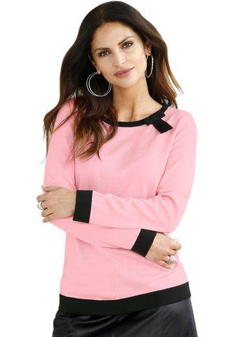 Пуловер с kontrastfarbiger бант