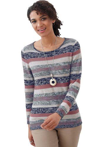 Damen Collection L. Pullover im mehrfarbigen Streifenmuster blau | 08859416800603