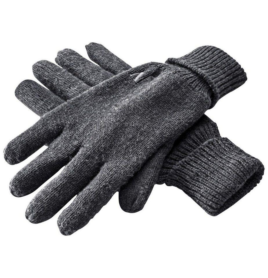 Jan Vanderstorm Strickhandschuhe »ELIEL« mit wärmendem Fleece gefüttert | Accessoires > Handschuhe > Strickhandschuhe | Grau | Fleece | Jan Vanderstorm