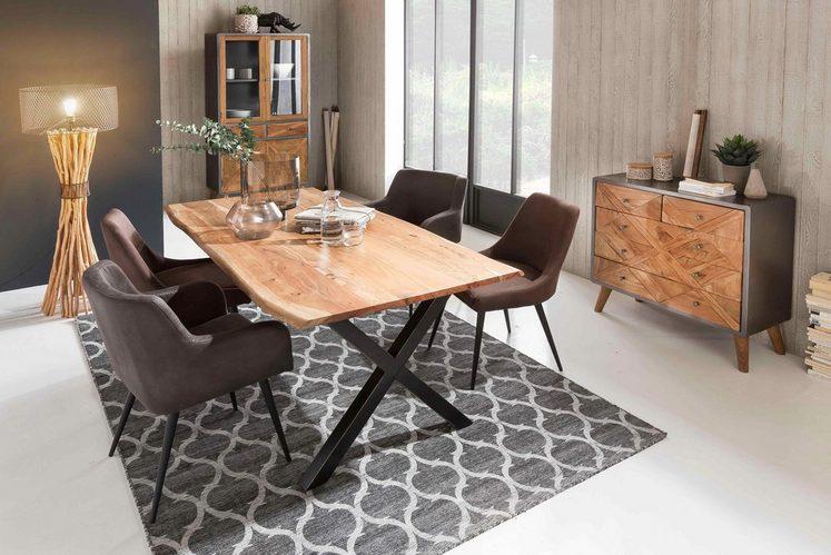 SIT Esstisch »Tops&Tables«, aus massiver Akazie, mit Baumkantenoptik