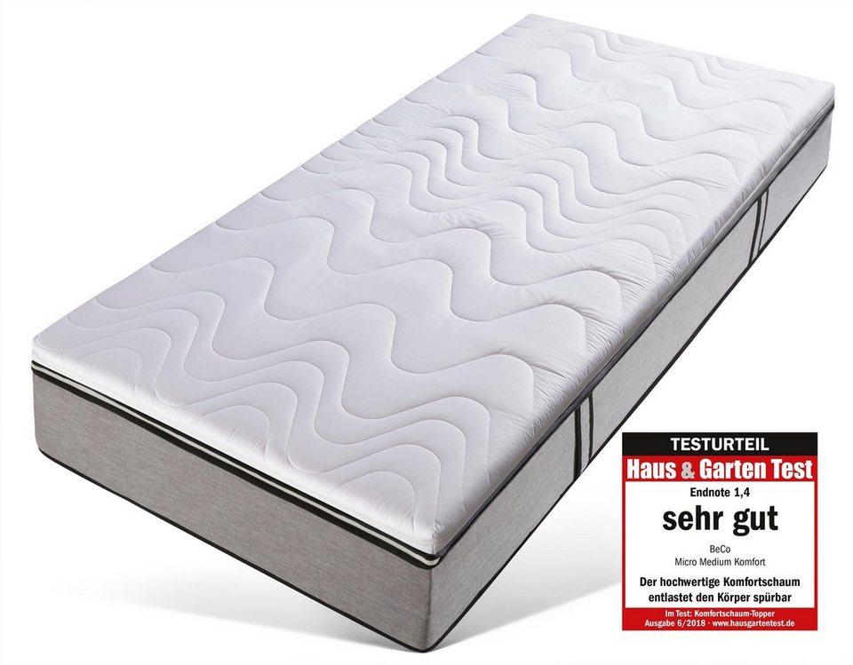 Topper Micro Medium Komfort Beco 7 Cm Hoch Raumgewicht 35