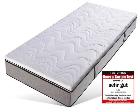 """Topper »Micro Medium Komfort«, Beco, 7 cm hoch, Raumgewicht: 35, Komfortschaum, von Haus & Garten Test mit Testurteil: """"Sehr gut"""""""