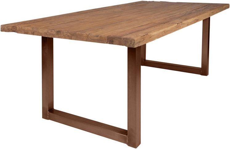 SIT Esstisch »Tops&Tables«, mit rustikaler Tischplatte aus recyceltem Altholz Teak