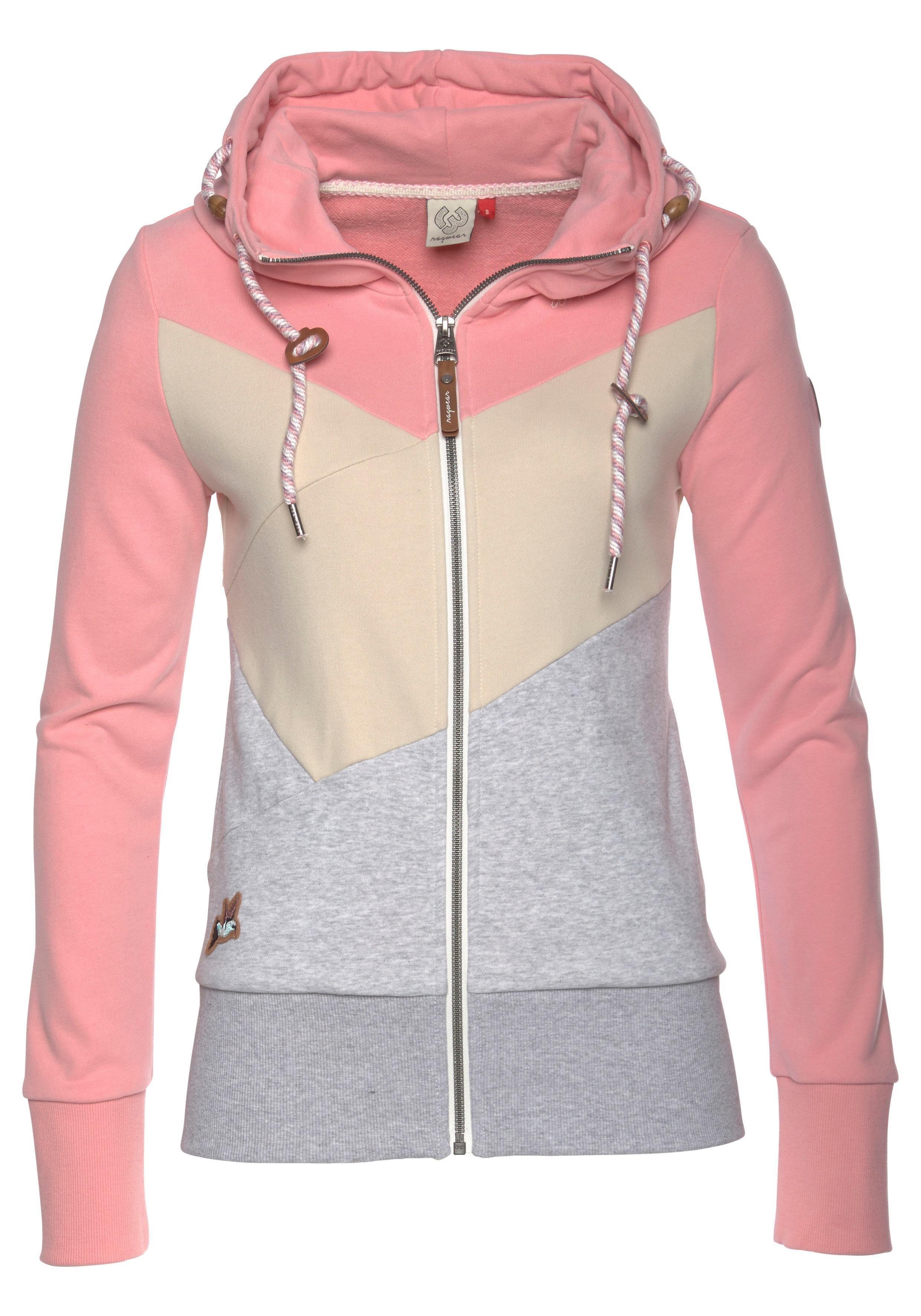 naketano Sweatshirt 'So Ein Otto' in graumeliert rosa