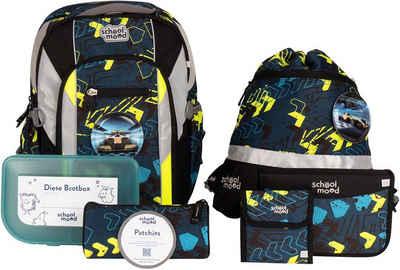 SCHOOL-MOOD® Schulrucksack »Loop Air+, Elias« (Set), mit LED-Patchy; aus recyceltem Material