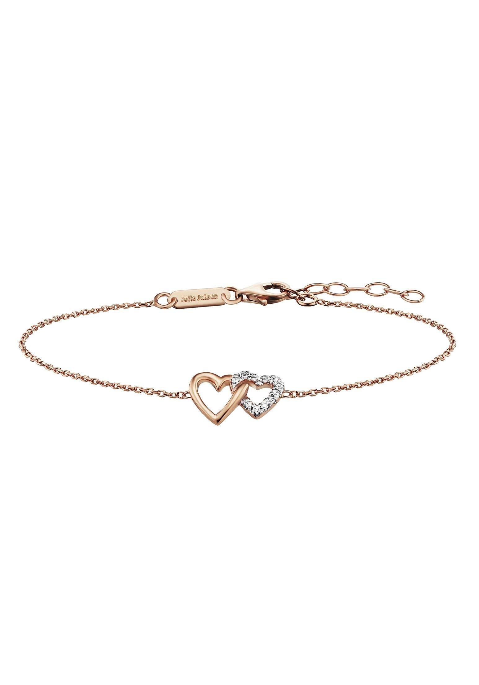 Julie Julsen Armband »Amore, Herzen, JJBR0263.2« mit Zirkonia