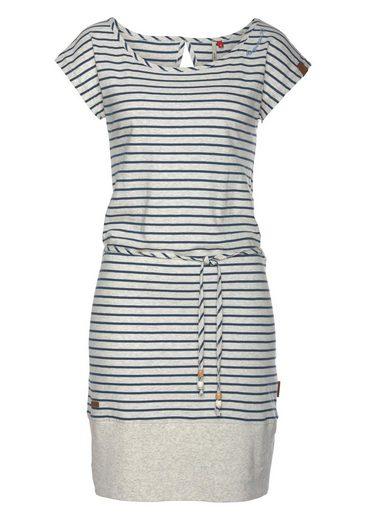 Ragwear Shirtkleid »SOHO STRIPES« mit maritimen Streifen und Bindeband
