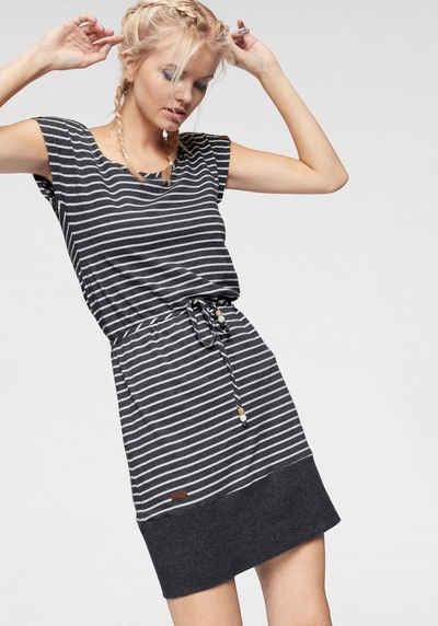 d4c197f0a7e046 Ragwear Shirtkleid »SOHO STRIPES« mit maritimen Streifen und Bindeband